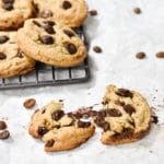 gooey chocolate chip cookie