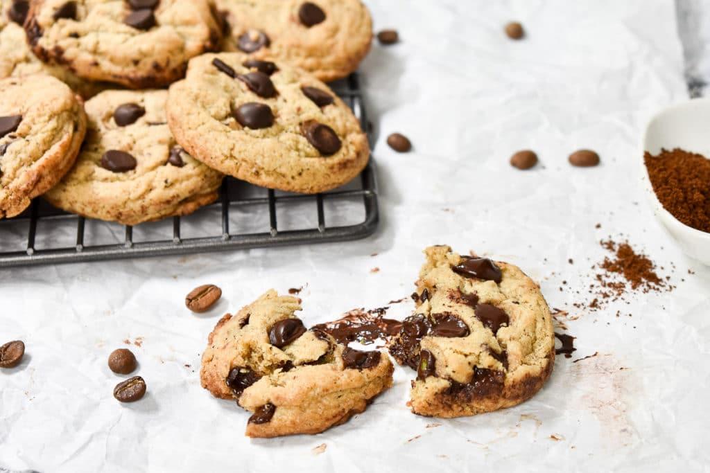 Gooey esspresso chocolate chip cookie