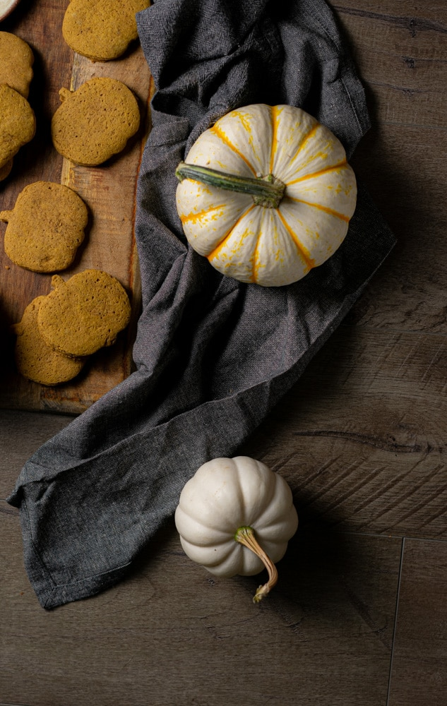 unfrosted pumpkin cut out cookies