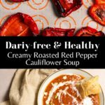 Roasted pepper soup pin for pinterest