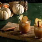 Pinterest pin for bourbon apple cider