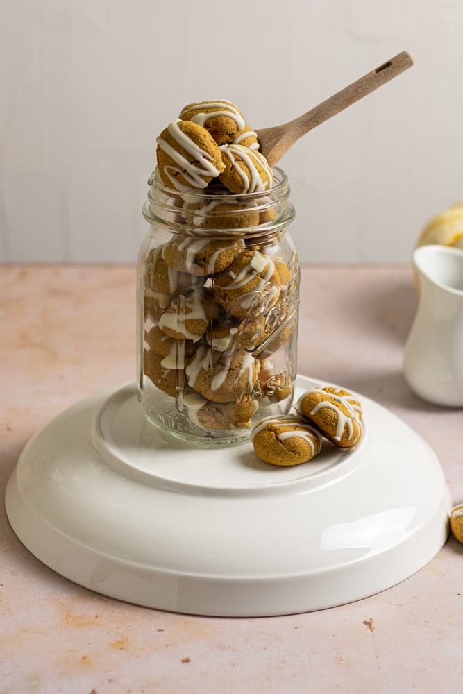 Jar full of pumpkin white chocolate cookie cereal