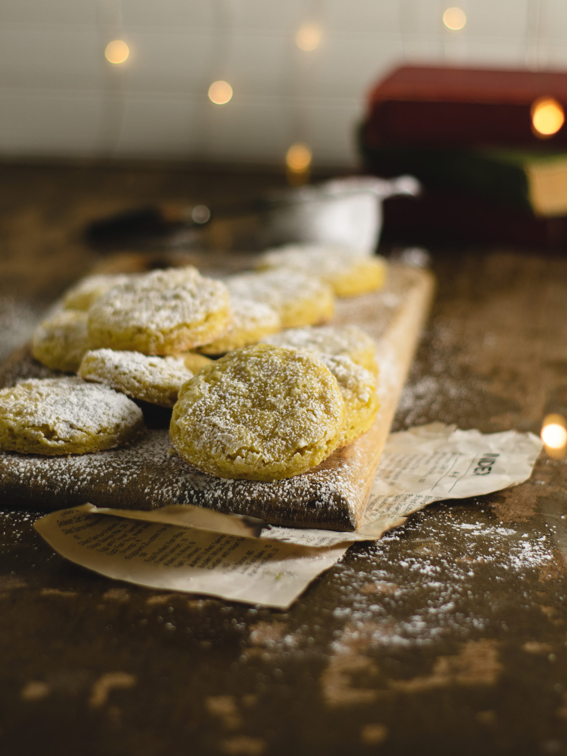 Fresh baked vegan orange sugar cookies