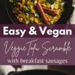 Vegan breakfast skillet pin for pinterest.