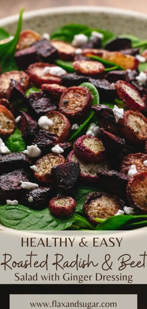 Roasted radish and beet pin for pinterest.