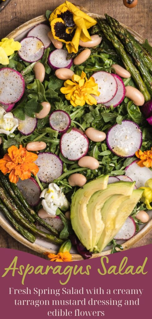 Asparagus salad pin for pinterest