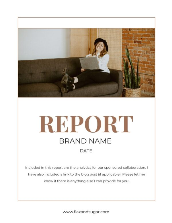report card template for brand partnerships