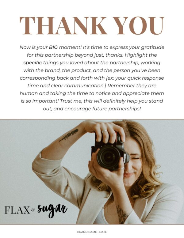 thank you page for brand report card template